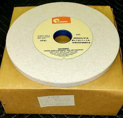 5 Grinding Wheels 8 x 1/2 x 1-1/4  32A60-JV1A tool and cutter grinder wheels.