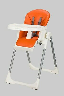 Upgraded brand new leather baby high chair - Orange