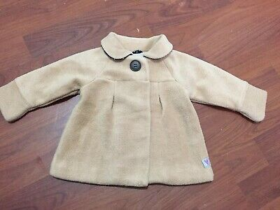 Girls - Mothercare Beige Teddy Coat - Age 3-6 Months - Excellent Condition