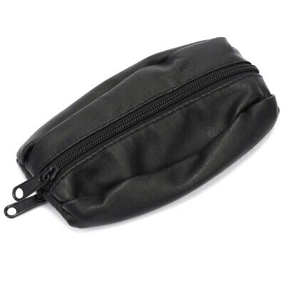Mens LadiesSMALL Soft REAL Leather Coin Purse Case Pouch Magnet Clasp Button