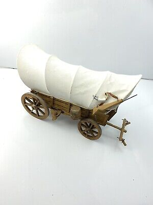 COOL Breyer Horse Accessory Vintage Wooden Conestoga Covered Wagon Stagecoach