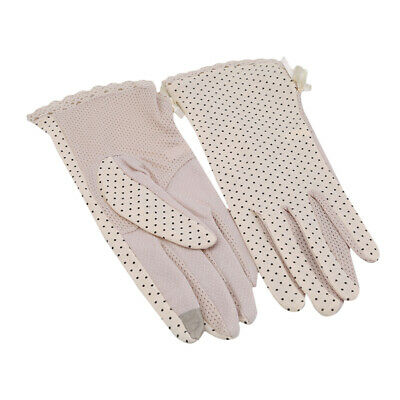 Women Summer Car Driving Full Finger Thin Sun Protection Gloves Pair LP