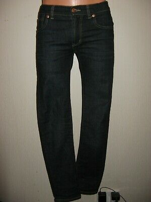 Worn Once Boys Dark Blue Levis 510 Skinny Stretch Slim Fit Fashion Jeans Age 14
