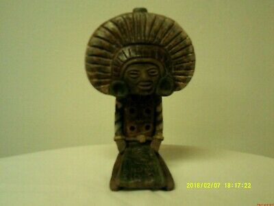Pre-Columbian effigy figure ancient Mexican or South American? warrior flute