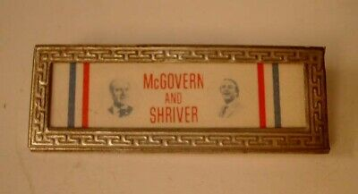 Presidential Pin Back 1972 Campaign Button Sargent Shriver VP McGovern President