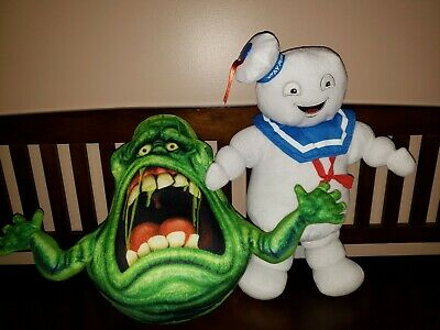 Ghostbusters Slimer and Stay Puft Stuffed Animals! Pre-owned!
