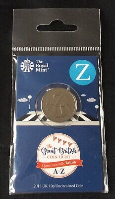 Royal Mint Great British Coin Hunt A-Z Alphabet 10p. Uncirculated Letter Z 2018