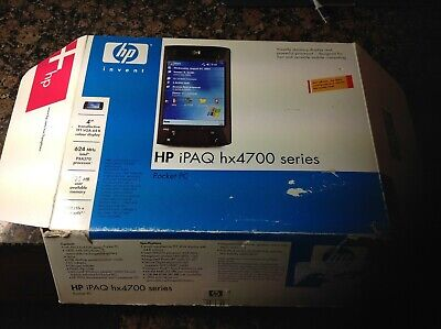 HP iPAQ HX4700 Series Pocket PC, boxed with dock and assorted memory cards
