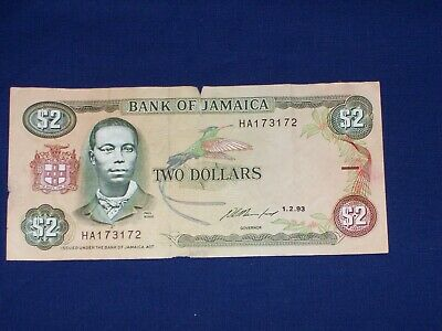 $2 Bank Note from Jamaica