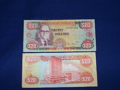 $20 Bank Note from Jamaica