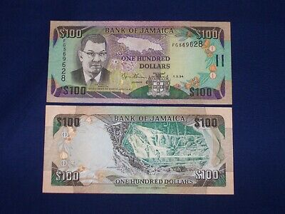 $100 Bank Note from Jamaica