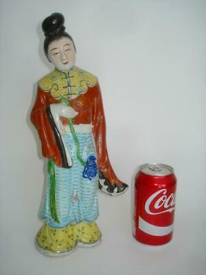 Fine Antique Chinese Porcelain Famille Rose Lady Figure Republic Period Signed