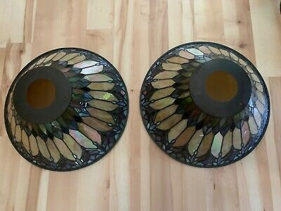 """Quoizel Collectible Stained Glass Shade Tiffany Style 16"""" Diameter"""