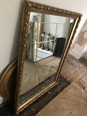 Spectacular Large Antique Ornate Heavy Mirror