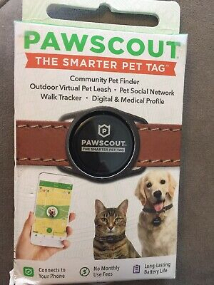 Pawscout THE SMARTER PET TAG for CATS DOGS Walk Tracker Community Pet Finder GPS