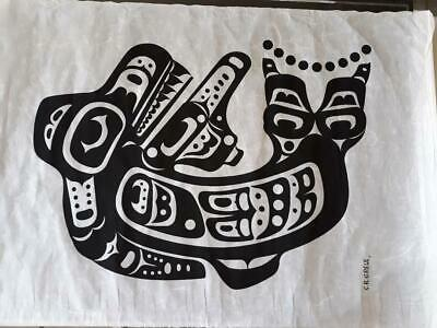Haida Art, Charles B Greul Silkscreen On Rice Paper, Seal, First Nation Artist