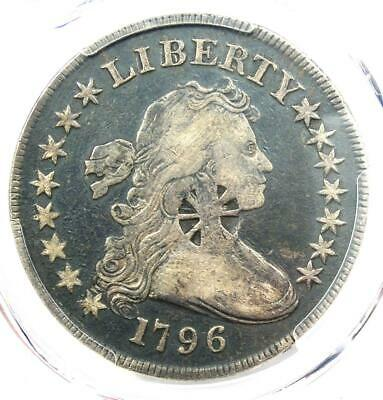 1796 Small Eagle Draped Bust Silver Dollar $1 Coin - Certified PCGS VF Detail!