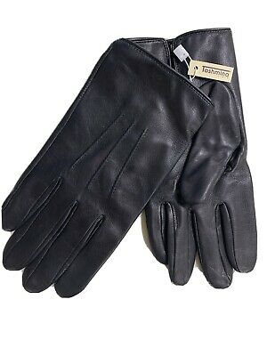 Sermoneta Genuine Leather Gloves MENS Size 9 Cashmere Lined Bought In Italy