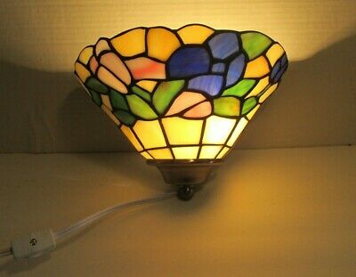 Tiffany Style Stained Glass PinUp Wall Sconce Lamp Lighting Fixture Prestigeline