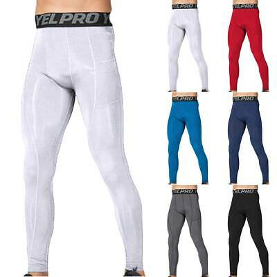 Mens Compression Base Layer Sports Hot Pants Thermal Under Wear Leggings Bottoms