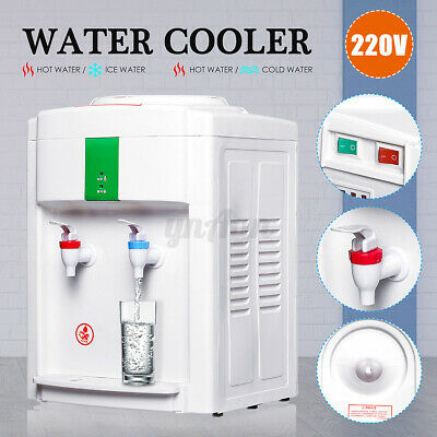220V Water Filter Machine Ice/Cold & Hot Water Cooler Warm Dispenser Table