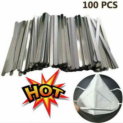 100PCS Aluminum Strip for Face DIY Making Accessories Nose Bridge Crafting 90mm