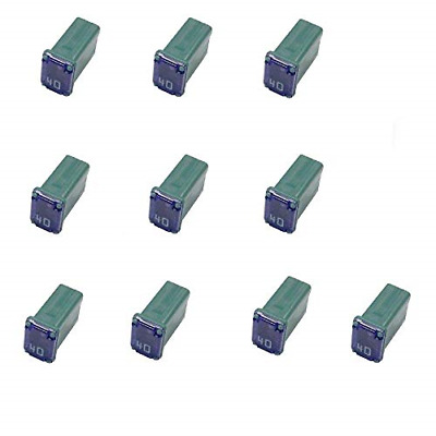 10 Pack 40 Amp Slow Blow Micro Female Fuses - FMM Mcase Fuse