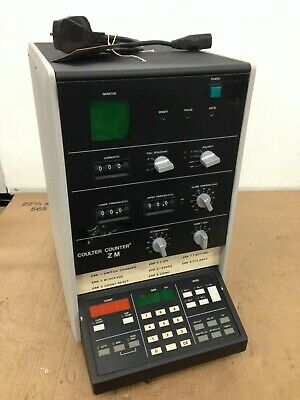 Coulter Counter ZM, cell counter, powered on but not fully tested