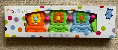 First Steps Baby Pram Rattle Lions
