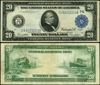 FR. 991 B $20 1914 Federal Reserve Note Chicago XF