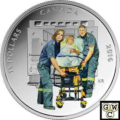 2016 Paramedics - National Heroes Color Prf $15 SilverCoin .9999 Fine(NT)(17698)