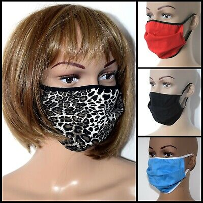 Face Mask cotton washable double-layer cover mouth nose reusable various designs