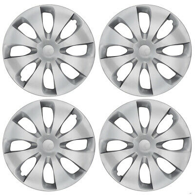 """Set of 4 Hubcaps Fits Nissan Altima 15"""" Silver Replacement Wheel Rim Skin"""