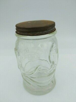 Vintage Black Sambo Face Peanut Butter Jar Vintage jar with lid