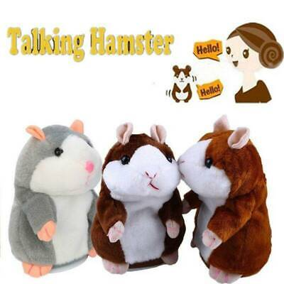 Cheeky Hamster Repeats What You Say Electronic Pet Talking Plush Toy Cute Gift.