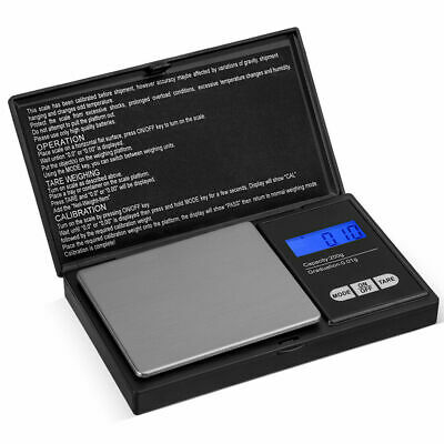 0.1g 200g Digital Mini Scales Pocket Weighing Gold Kitchen Jewellery Scale Herbs