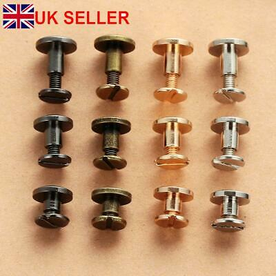 10Pcs Belt Screw Brass Solid Rivets Stud Head Leather Craft Nail For Wallet hot