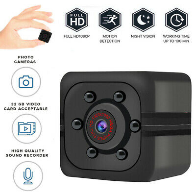 HD 1080P Mini Hidden Wireless Spy Camera Security Cam Night Vision DVR Monitor
