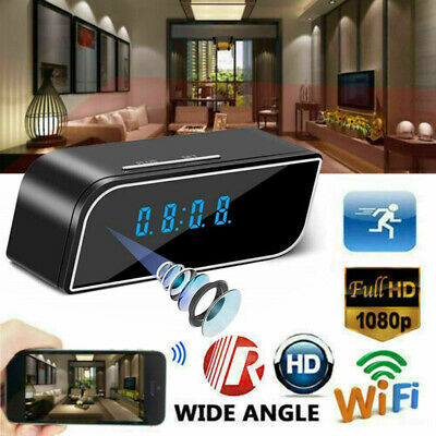 1080P Wifi Mini Night Vision DVR Wireless Motion Alarm Clock Security Camera Cam