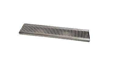 24x5x.75 Stainless Steel Drip Tray Removable Grate Commercial Quality No Drain