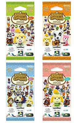 ANIMAL CROSSING NEW HORIZONS amiibo CARDS PACK SERIES 1 2 3 & 4 NINTENDO SWITCH