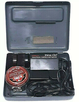 Presto Shine-On Home Travel Electric Shoe Polisher With Case Accessories