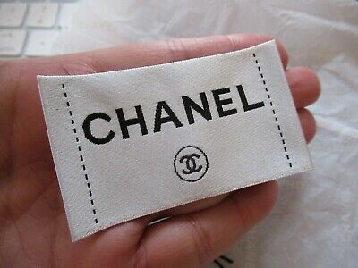 CHANEL for Clothing  Designer  Tag LABEL Replacement Sewing Accessories 3''