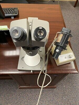 Olympus Microscope And Light Assembly