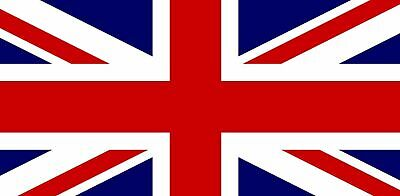 PACK OF 3 BRITISH QUALITY FLAGS WITH HEM 100/% Polyester 44 X 27CM UNION JACK