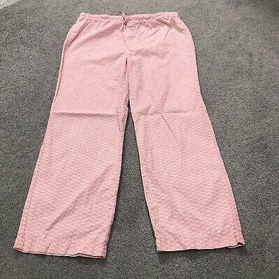 Vineyard Vines Shep & Ian Pink Shell Pajama Lounge Pants Capri Size Small S