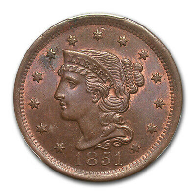 1851 Large Cent MS-64 PCGS (Brown) - SKU#172579