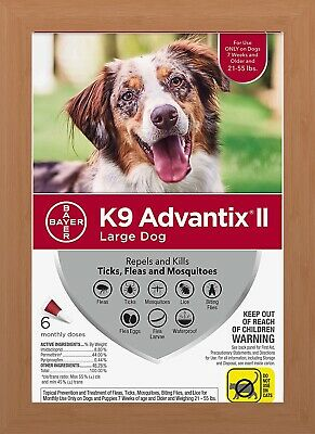 K9 Advantix II Flea & Tick Treatment for Large Dogs 21-55 lbs - 6 Pack