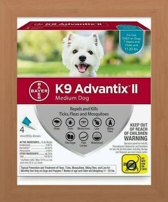 K9 Advantix II Flea & Tick Treatment for Medium Dogs 11-20 lbs - 4 Pack