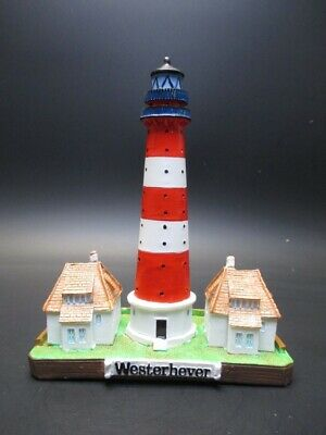 Leuchtturm Westerhever 15 cm Poly Modell Souvenir Germany Lighthouse